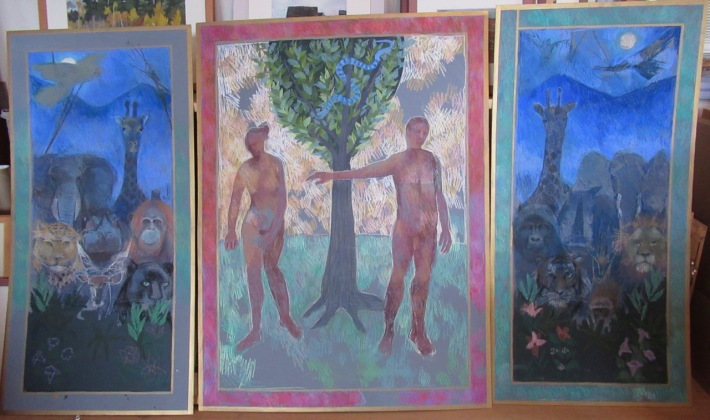 Adam and Eve panels 3